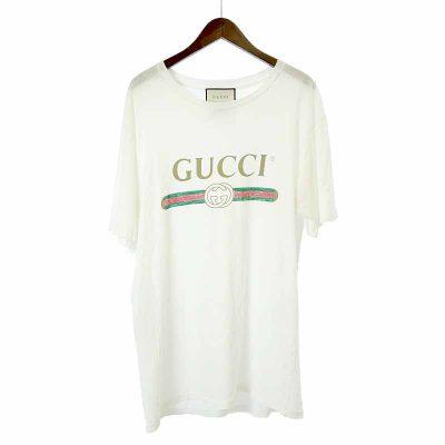 グッチ/GUCCI 17SS オールド ヴィンテージ ロゴ プリント ダメージ加工Tシャツ参考買取価格15000~20000円前後