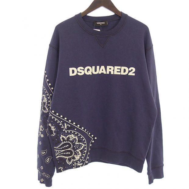 ディースクエアード2/DSQUARED2 18AW Bandana Print Sweatshirt バンダナ プリント スウェット 買取参考金額5,000~10,000円前後
