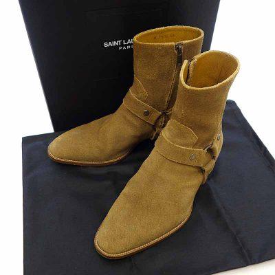 サンローランパリ/SAINT LAURENT PARIS 15AW Classic Wyatt Harness Suede Ring Boots 買取参考金額30,000~40,000円前後