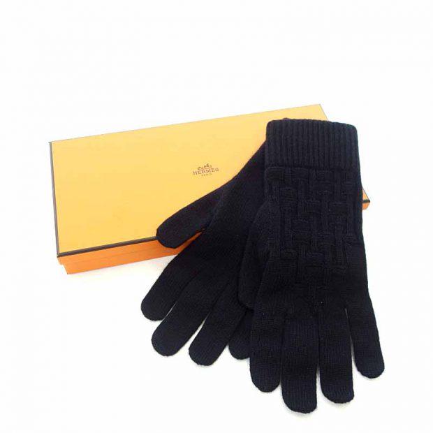 エルメス/HERMES PACO パコ カシミアニットグローブ 手袋 参考買取価格6.000円から10.000円前後