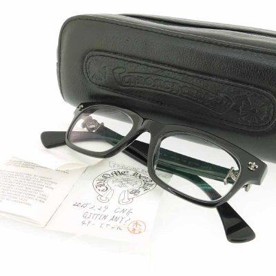 クロムハーツ/CHROME HEARTS BSフレアテンプルウェリントン眼鏡 メガネ参考買取価格25000~35000円前後
