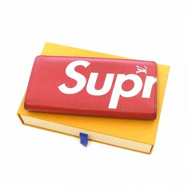 シュプリーム/SUPREME 17AW LV PF BRAZZA ポルト フォイユ ブラザ ロゴ エピ レザー 買取参考金額 150000円前後