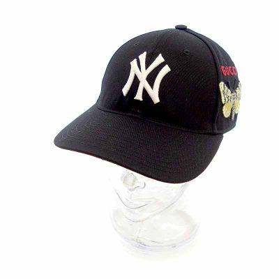 グッチ/GUCCI 18AW × NEW YORK YANKEES NY 刺繍 バタフライ キャップ