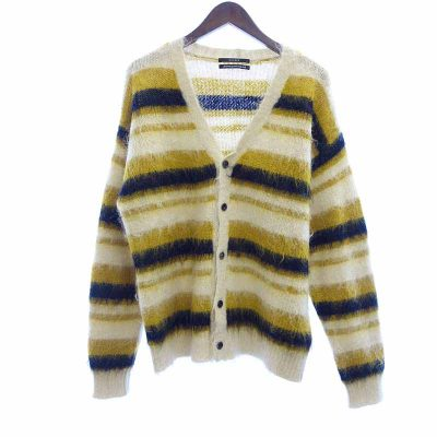 アンユーズド/UNUSED 19AW 5G Border Knit Cardigan モヘアカーディガン買取参考金額15000~18000円前後