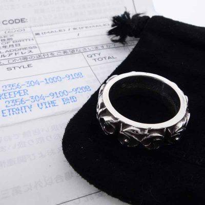 クロムハーツ/CHROME HEARTS ETRNITY VINE BAND エタニティヴァインバンド シルバーリング参考買取価格9000~14000円前後