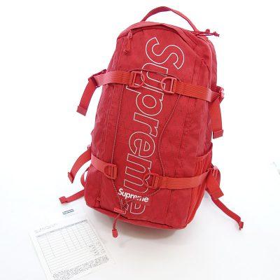シュプリーム/SUPREME 18AW Backpack レッド バックパック リュック参考買取価格10000~15000円前後