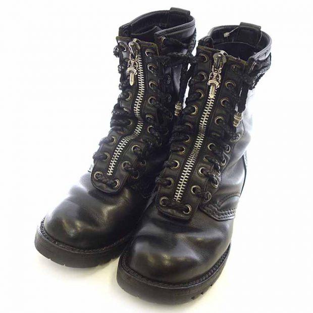 クロムハーツ/CHROME HEARTS WESCO FIREMAN ウエスコ ファイヤーマン カスタム レザー ブーツ