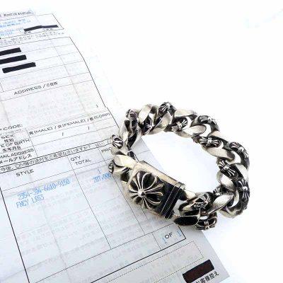 クロムハーツ/CHROME HEARTS CLSC LRG3 CHXラージボックスID ファンシー ブレスレット 買取参考金額 120000~130000円前後
