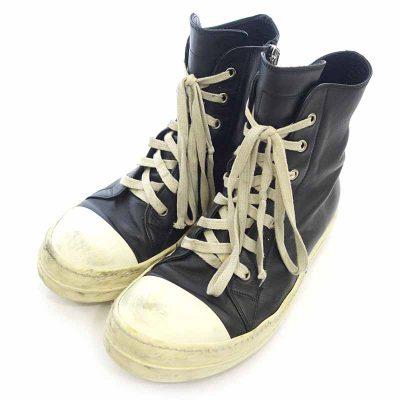 リックオウエンス/RICK OWENS Ramones ラモーンズ レザー サイド ジップ ハイカット  スニーカー 買取参考金額 15000~20000円