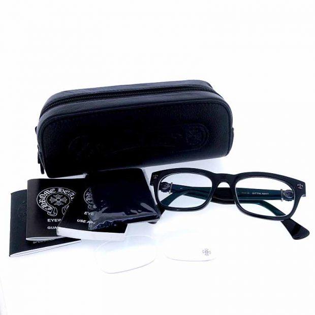 カテゴリトップ > 新入荷商品 カテゴリトップ > ファッション小物 > メガネ、サングラス  クロムハーツ/CHROME HEARTS GITTIN ANY BSフレアフレーム メガネ  買取参考金額は25000~30000円前後