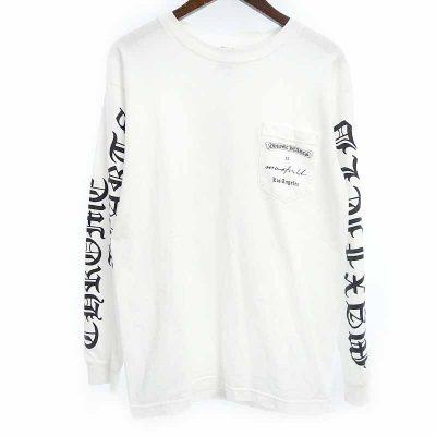 クロムハーツ/CHROME HEARTS マックス フィールド ダガー プリント ポケット 長袖 Tシャツ 買取参考金額 5000円~10000円前後
