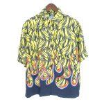 プラダ/PRADA 18AW 総柄 バナナ フレイム レーヨン 半袖 シャツ