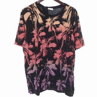サンローランパリ/SAINT LAURENT PARIS パームツリー プリント 総柄 Tシャツ 買取参考金額 5000~10000円前後