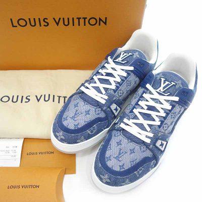 ルイヴィトン/LOUIS VUITTON Trainer Sneaker デニム モノグラム スニーカー参考買取価格50000~60000円前後