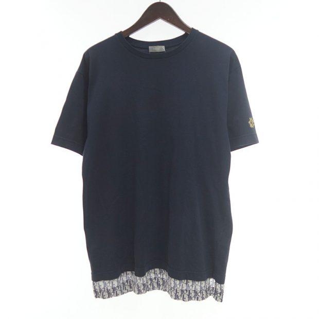 ディオール/DIOR 19SS ロゴ オブリーク モノグラム シルク 切替 コットン Tシャツ参考買取価格10000~20000円前後