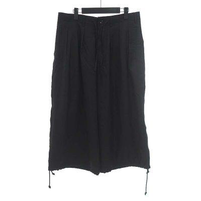 ヨウジヤマモト/YOHJI YAMAMOTO GROUNDY 裾ドローコード タック ワイド バルーン パンツ 買取参考金額 10000~15000円前後