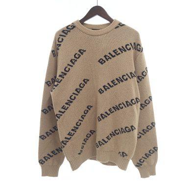 バレンシアガ/BALENCIAGA ジャガード ロゴ 総柄 ニット セーター カットソー参考買取価格25000~35000円前後