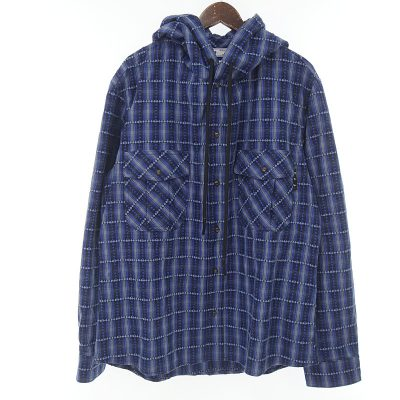 オフホワイト/OFF WHITE 20AW Plaid Hooded Jacket フーデット チェックシャツ参考買取価格15000~25000円前後