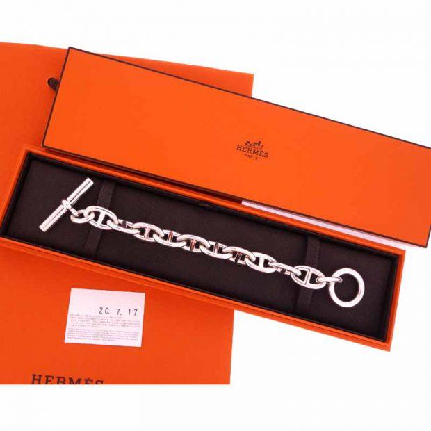 エルメス/HERMES Chaine dAncre TGM シェーヌ ダンクル ブレスレット 買取参考金額 120,000~140,000円前後