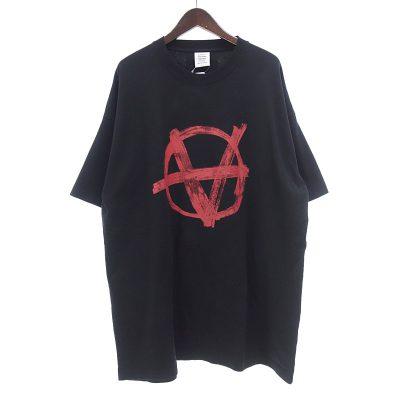 ヴェトモン/VETEMENTS 20SS SS20TR297 オーバーサイズ アナーキー プリント Tシャツ 買取参考金額 10,000~15,000円前後