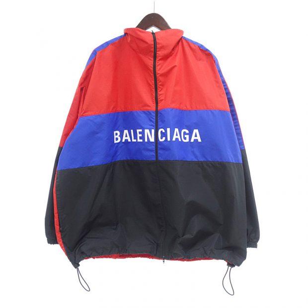 バレンシアガ/BALENCIAGA 19SS ロゴ カラー ブロック ナイロン ウインドブレーカー ジャケット