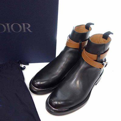 ディオール/DIOR 20aw シグネチャー バックル ストラップ レザー アンクル ショート ブーツ 買取参考金額 70,000~80,000円前後