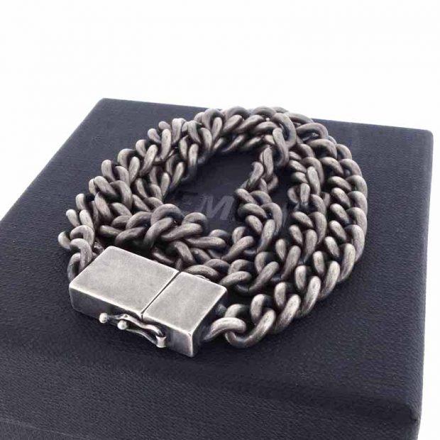 ヴェトモン/VETEMENTS 20AW 925 USB アンティーク調 チャンキーメタル チェーン ネックレス 買取参考金額25000~35000円前後