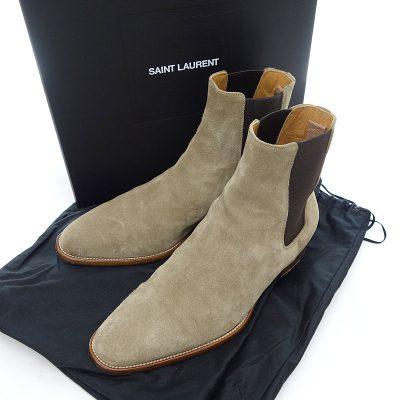 サンローランパリ/SAINT LAURENT PARIS サイドゴア チェルシー スウェード ブーツ 買取参考金額は20000~30000円前後