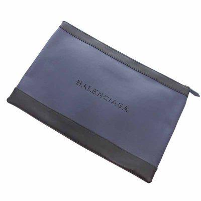 バレンシアガ/BALENCIAGA NAVY CLIP ネイビークリップ レザー クラッチバッグ参考買取価格10000~15000円前後