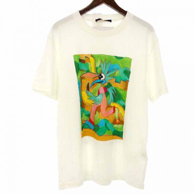 ルイヴィトン/LOUIS VUITTON 21SS LVメン LVフレンド インサイドアウト ラベル Tシャツ 買取参考金額 25,000~30,000円前後