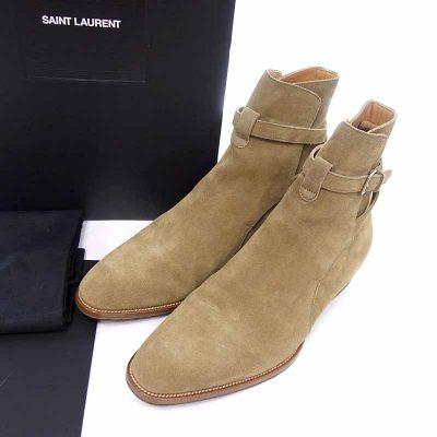 サンローランパリ/SAINT LAURENT PARIS ワイアット ジョッパー スウェード ブーツ買取参考金額は25,000~30,000円前後