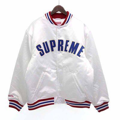 シュプリーム/SUPREME MITCHELL NESS SATIN VARSITY ロゴ スタジャン ジャケット 買取参考金額 10,000~15,000円前後