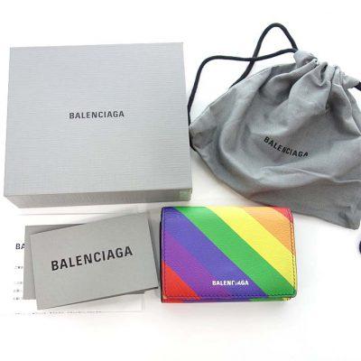 バレンシアガ/BALENCIAGA Ville ミニ ウォレット 財布 レインボー 買取参考金額 10,000円~15,000円前後